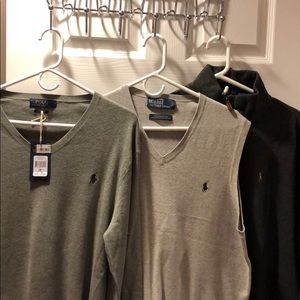 BUNLE DEAL ! 3 polo sweaters GREY COLORS